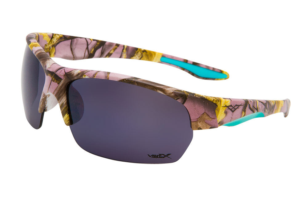 56313-LPUR - VertX Women's Camo Sports Sunglasses
