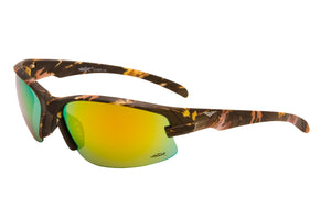 56316-BLK - VertX Camo Sports Wrap Sunglasses w/ Matte Rubber Finish