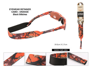 A56993 - Orange Camo Retainer w/ Black Stitching