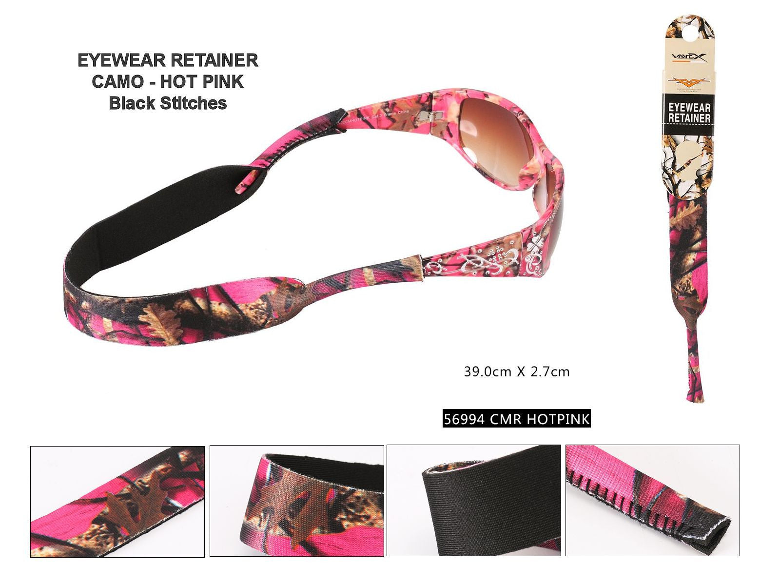 A56994-HOT PINK CAMO RETAINERS