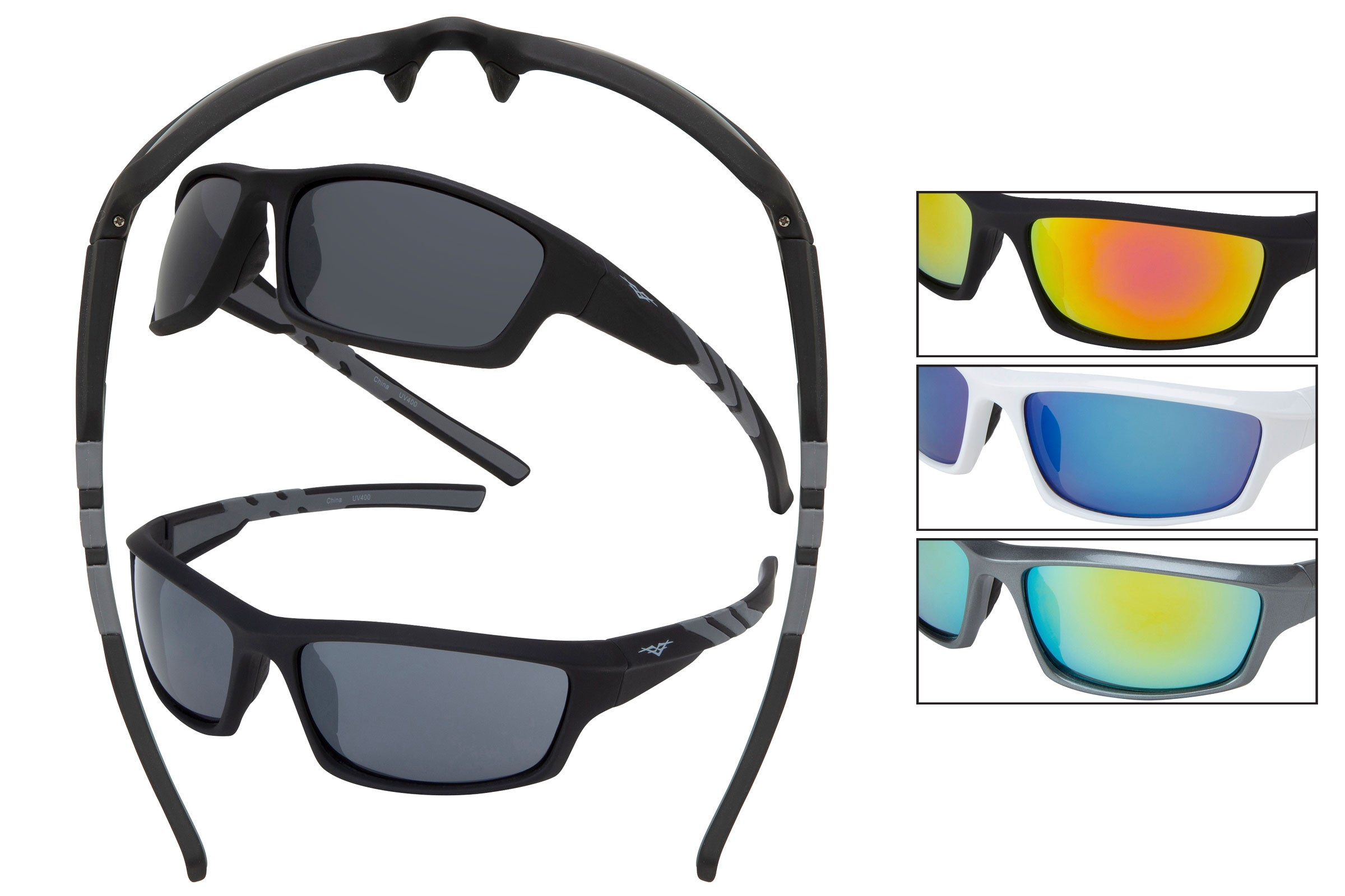 59118 - Men's PC Sports Wrap Sunglasses