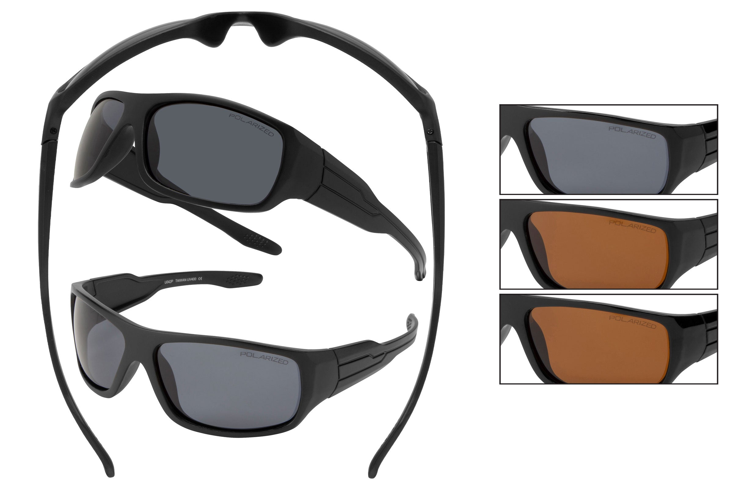 59133XL-POL - VertXL Extra Large Polarized Sport Wrap Sunglasses