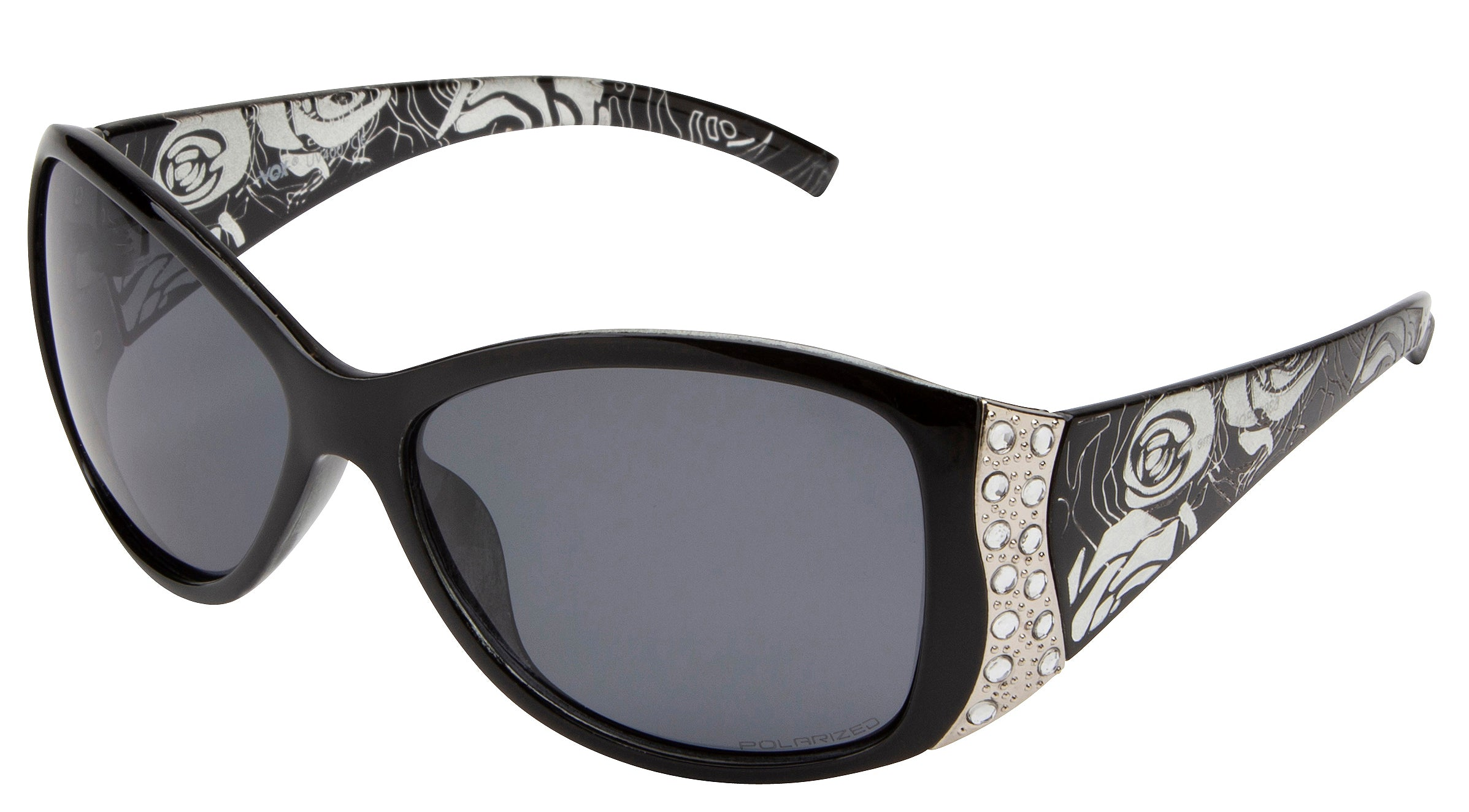 63035POL - Vox Women's Polarized PC Fashion Sunglasses w/ Rhinestones