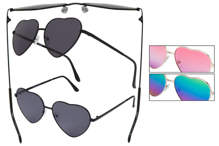 66128 - Vox Women's Heart Shaped Sunglasses