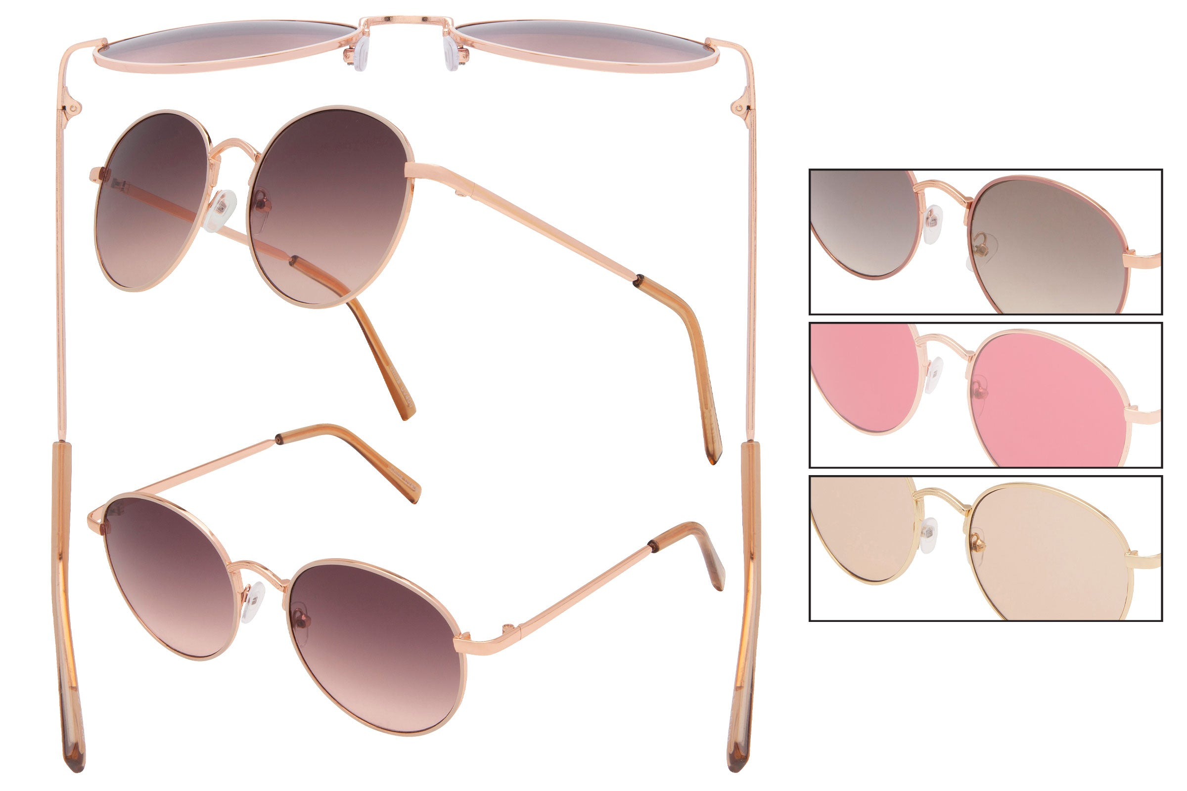 66154 - Vox Retro Metal Sunglasses
