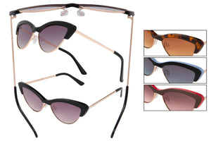 66156 - Vox Women's PC Fashion Sunglasses w/ Metal