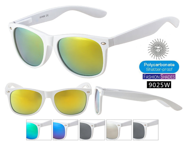 9025-WHT - RETRO TRENDY EYEWEAR White