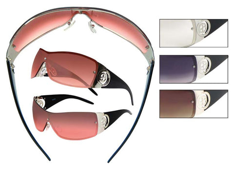 AM01 - Rectangular Shield Sunglasses