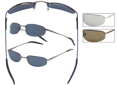 AR03 - Metal Wire Rimless Sunglasses