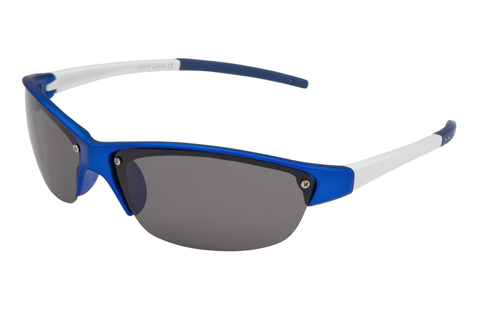 AY01P - Semi-Rimless Polarized Sport Wrap Sunglasses