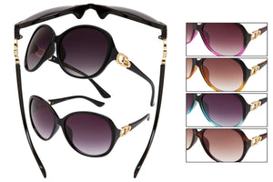 BU16R - Women's PC Fashion Sunglasses with Rhinestones