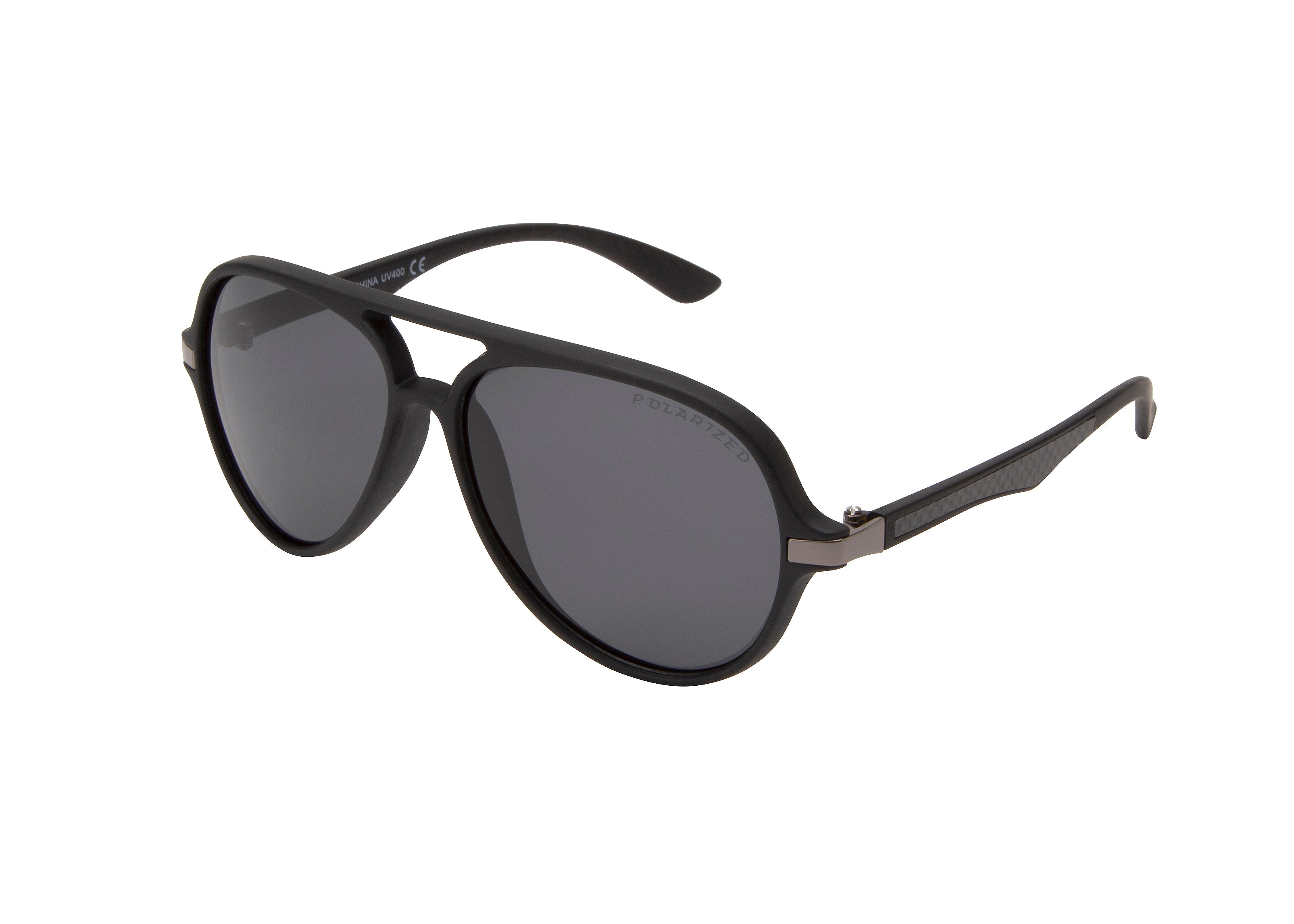 CA24P - Polarized Retro Plastic Sunglasses
