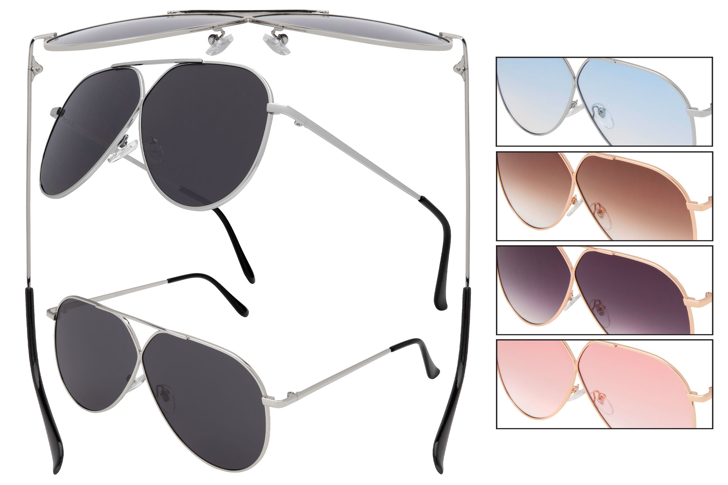 CD25 - Women's Pilot Fashion Sunglasses