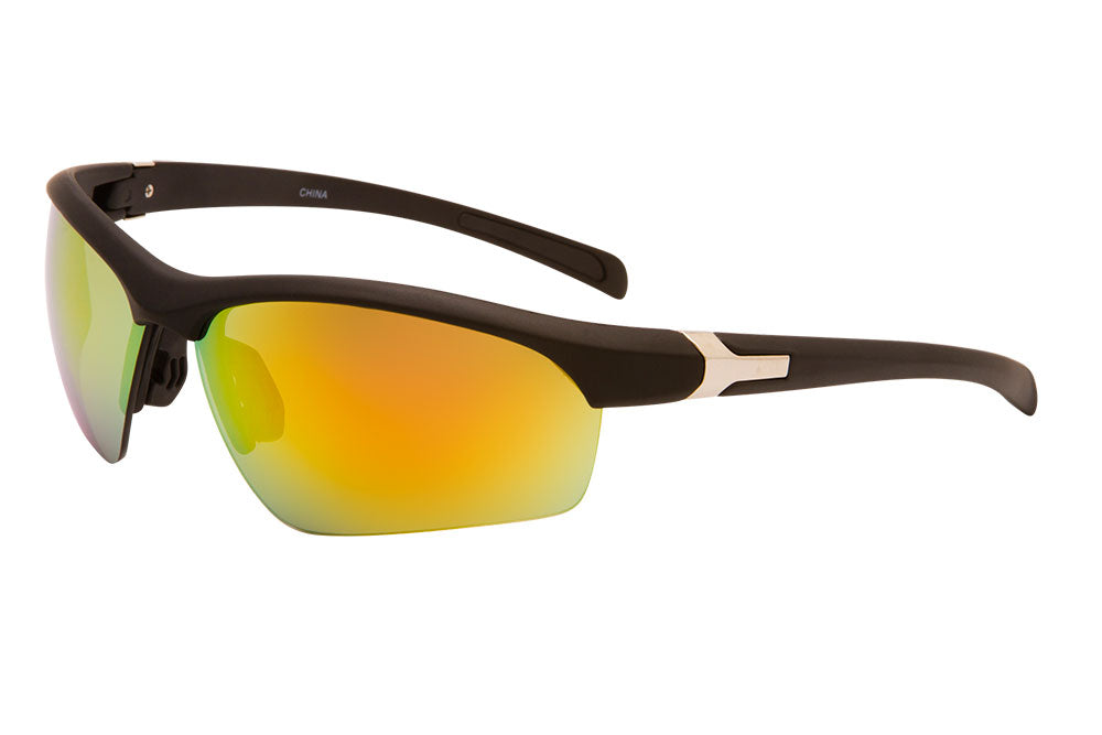 CDM22 - Semi-Rimless Sports Wrap Sunglasses