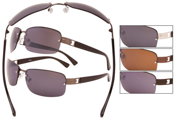 CK01 - Metal Wire Semi-Rimless Sunglasses