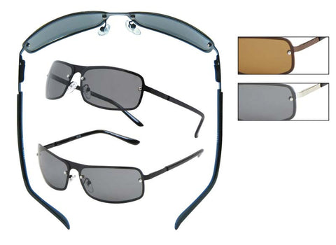 DE04P - Polarized Metal Sunglasses