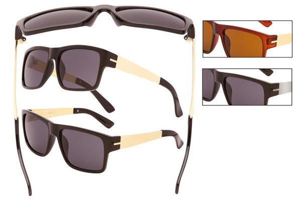 DE11P - Retro Plastic Polarized Sunglasses