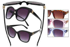 DG61R - Women's Fashion Sunglasses w/ Rhinestones