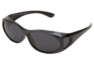 FO01P - Small Polarized Shaded Sunglasses - Fit Over Eyewear