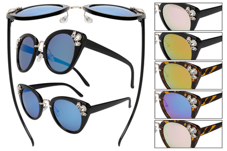 GM10R - Women's Fashion Sunglasses w/ Rhinestones