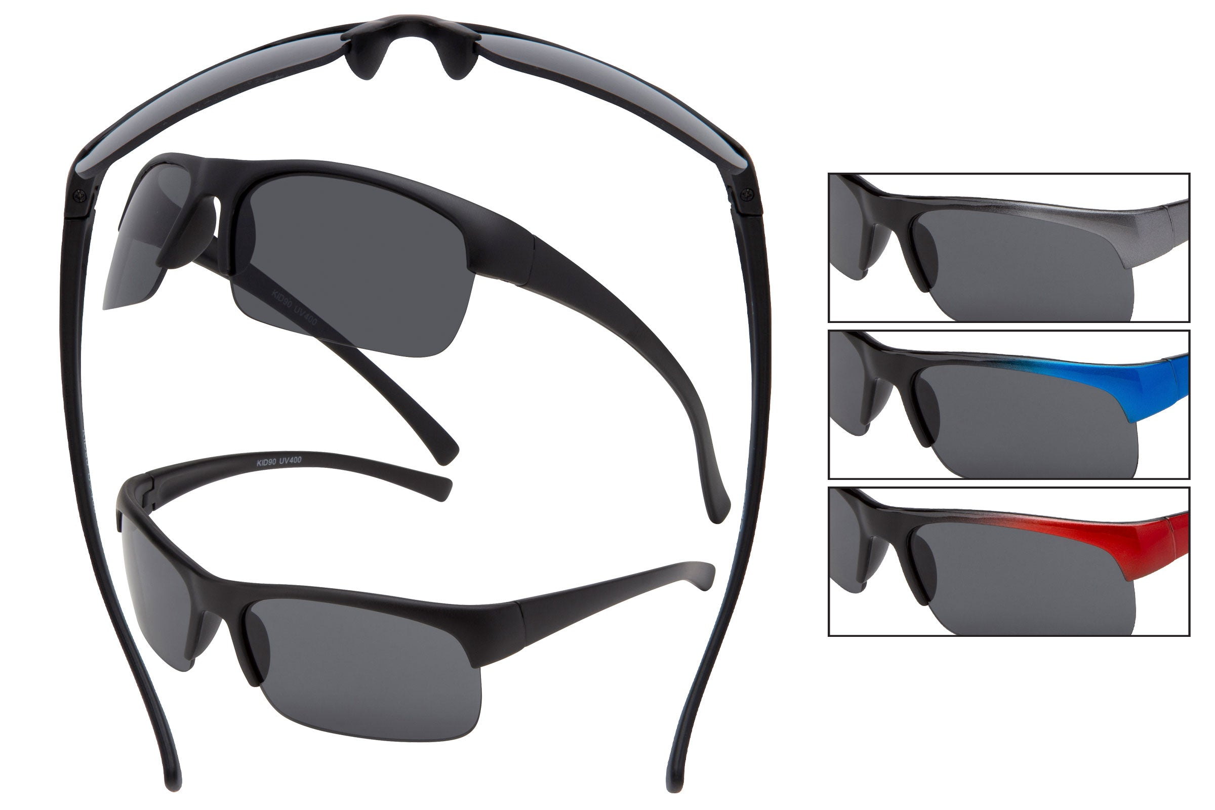 KID90 - Boys Sport Wrap Sunglasses