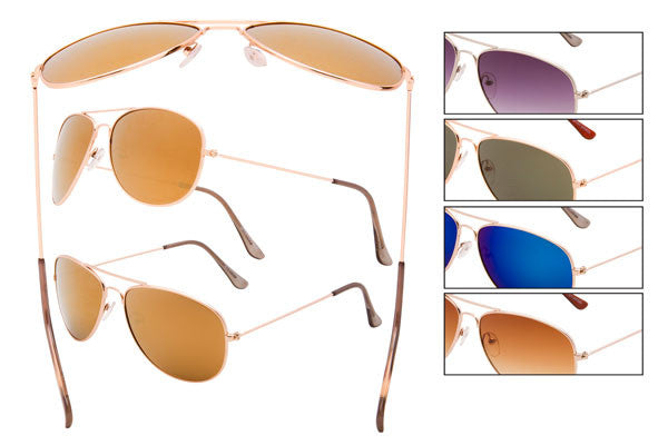 MT01 - Wire Rimmed Pilot Sunglasses