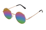 OP10RB - Metal Wire Sunglasses w/ Rainbow Lens
