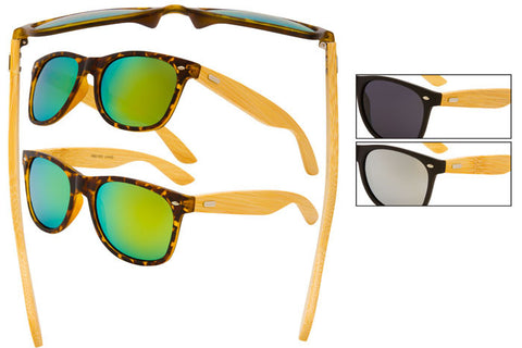 RB01WD - Classic Sunglasses, Bamboo Temples