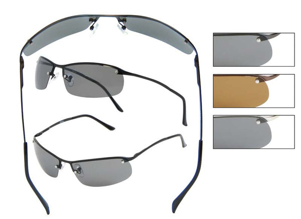 RB06P - Polarized Rimless Sunglasses