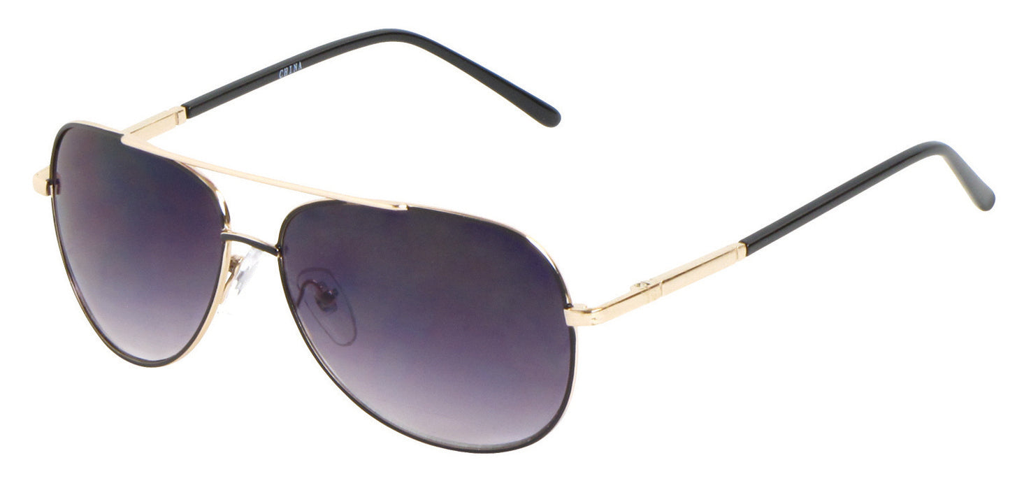 RL08 - Wire Rimmed Pilot Sunglasses