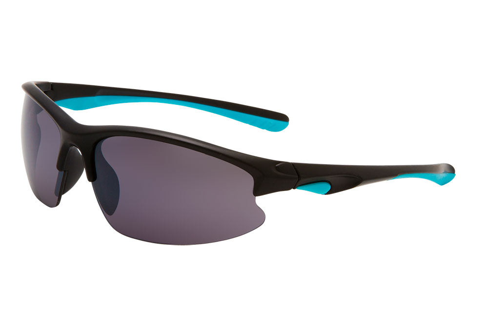 SM21 - Semi-Rimless Sport Wrap Sunglasses
