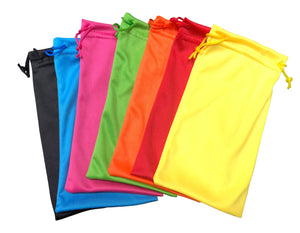 SXMICRO/ASST - Assorted Neon and Black Microfiber Pouches