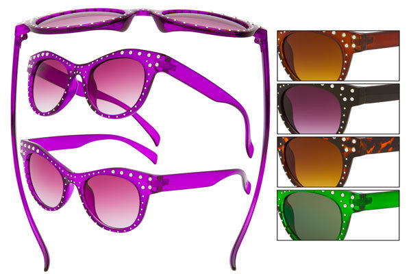 VE18R - Rhinestone Sunglasses