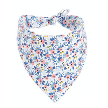 Load image into Gallery viewer, Dog Bandanas - Small Floral in Baby Blue