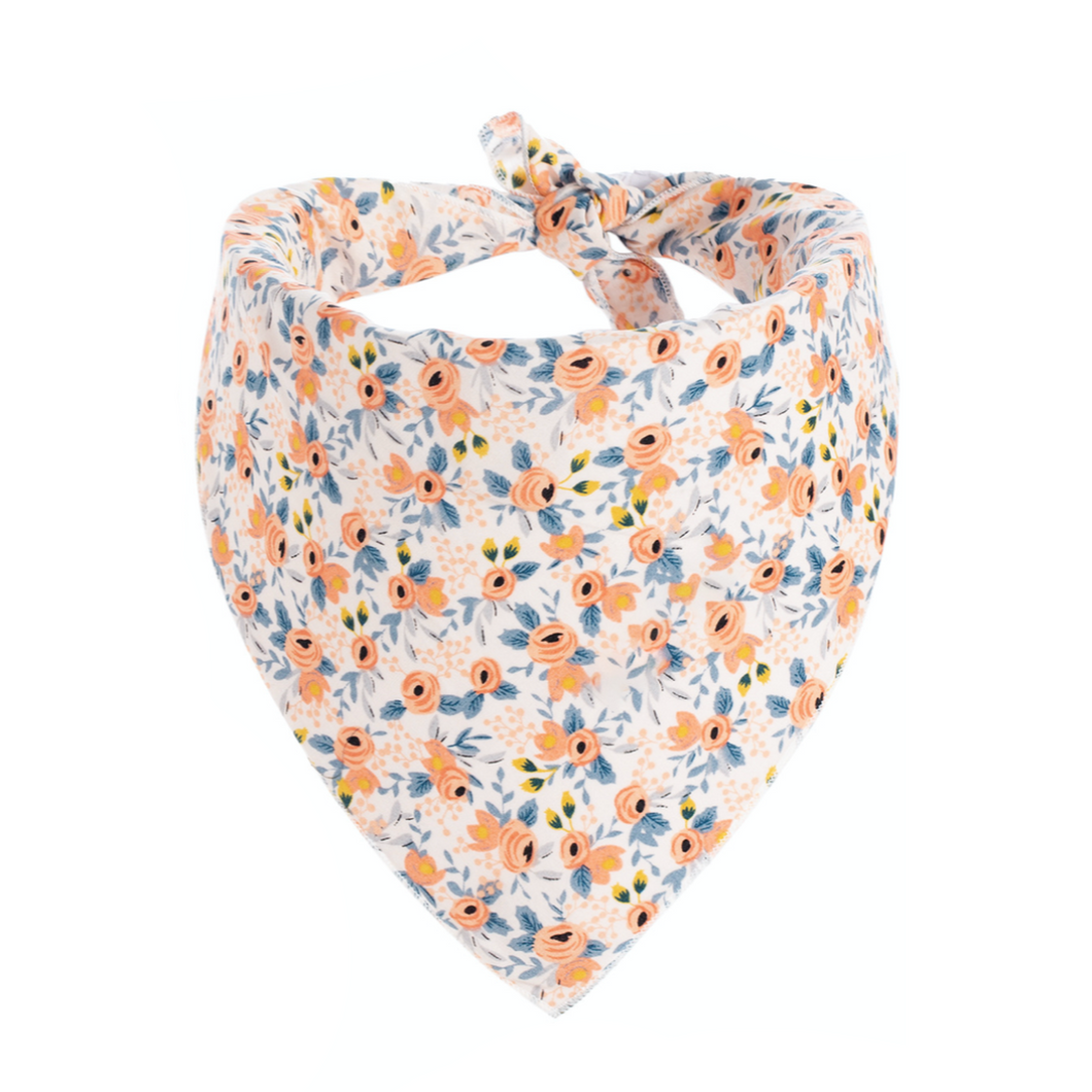 Dog Bandanas - Small Floral in Orange