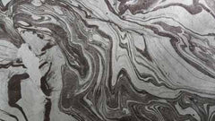 Marbled Lokta-Charcoal on Blue-Gray