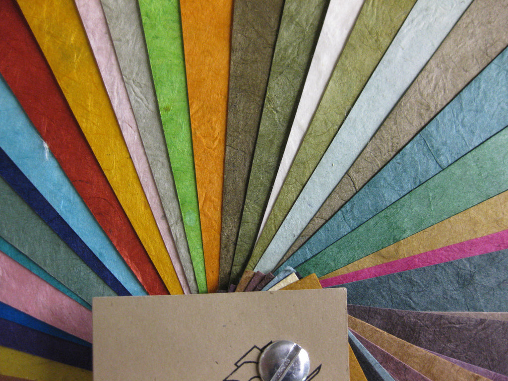 Swatchbook of Lokta Handmade Paper from Nepal