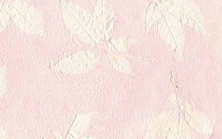 An-Jing Embossed Leaves Pastel Pink