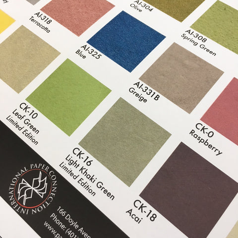 Color Kozo -Japanese Dyed Mulberry Paper Collection Sheet