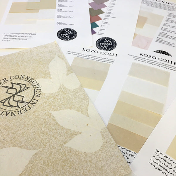 Fine Art Paper Swatch Portfolio including  Plain, White, Natural, Solid Colors