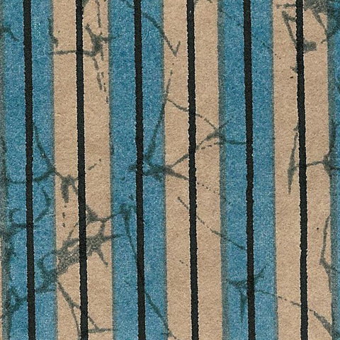Yuzen Blue and Beige Stripe KA-1045