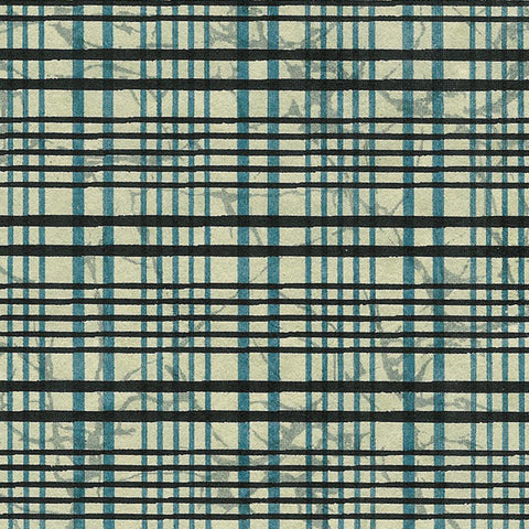 Yuzen Black and Blue Plaid KA-1052