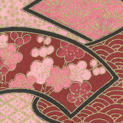 Yuzen Traditional Motifs on Rose and Pink KA-2592