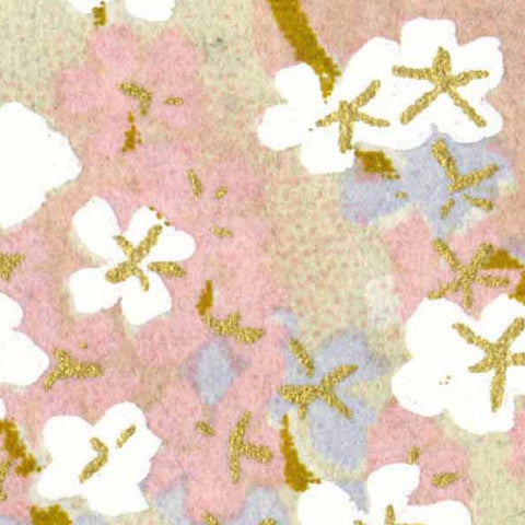 Yuzen Pink and Lavender with Mini White Blossoms KP 151