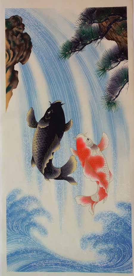 Sougara Yuzen Koi Swimming Towards the Future