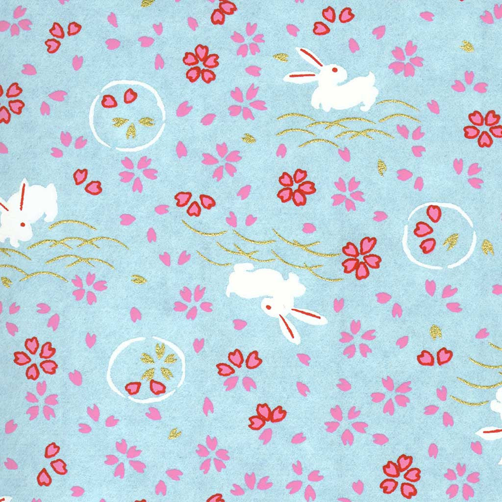 Yuzen Light Blue Bunnies Yuzen-KYO-6281