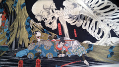 The Witch and the Skeleton by Kuniyoshi Utagawa