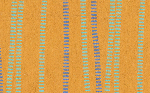 Laurelai Designs Wavy Lines on Orange