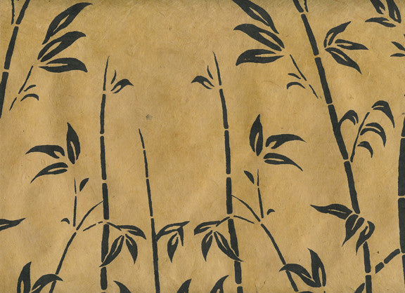 Bamboo Landscape on Brown