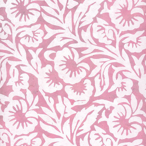 Lokta Off White Floral on Pink